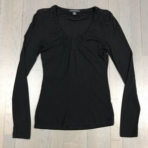 Banana Republic Black V Neck Long Sleeve Top Shirt